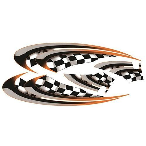 Madjax E-Z-GO TXT Orange Race Custom Body Graphic Set