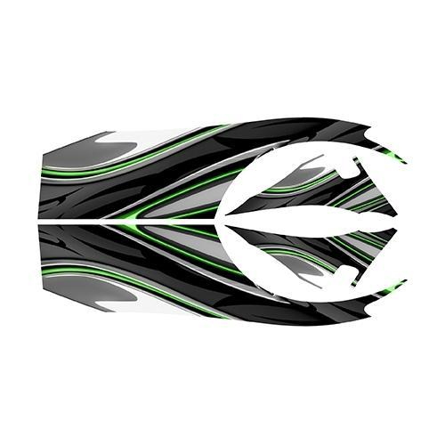 Madjax E-Z-GO TXT Green Carbon Custom Body Graphic Set
