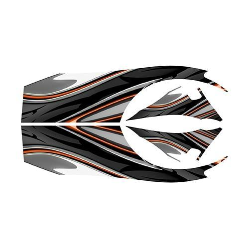 Madjax E-Z-GO TXT Orange Carbon Custom Body Graphic Set