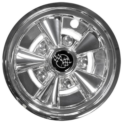 "10"" Rally Classic Chrome Wheel Cover (Universal Fit)"