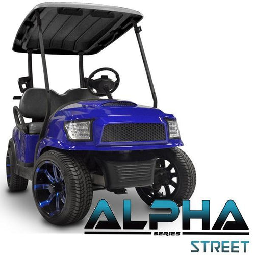 Club Car Precedent ALPHA Street Front Cowl Kit in Blue (Fits 2004-Up)