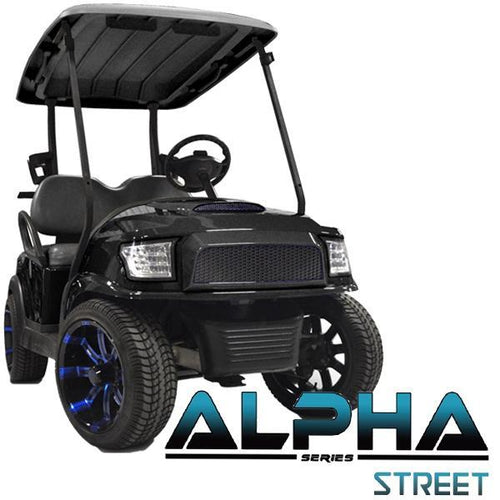 Club Car Precedent ALPHA Street Front Cowl Kit in Black (Fits 2004-Up)