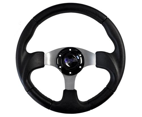 "Madjax 13"" Black Razor Steering Wheel"