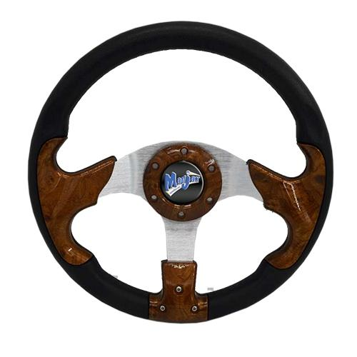 "Madjax 13"" Woodgrain Razor Steering Wheel"