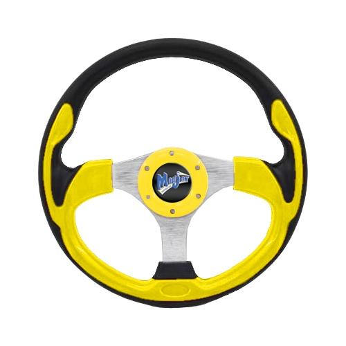 "Madjax 13"" Yellow Ultra Steering Wheel"