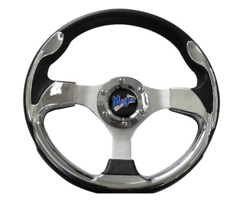 "Madjax 13"" Chrome Ultra Steering Wheel"
