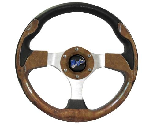 "Madjax 13"" Woodgrain Ultra Steering Wheel"