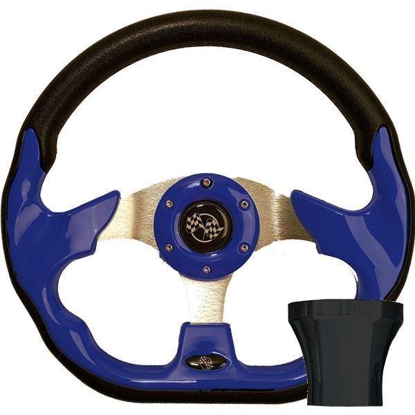 Club Car DS Blue Racer Steering Wheel Black Adapter Kit (Fits 1982-Up)