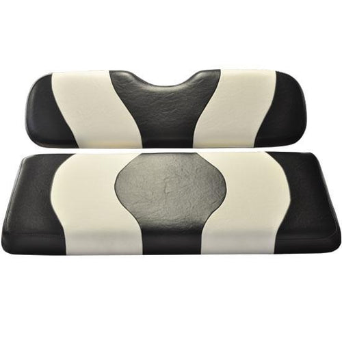 Madjax Wave Black/White Two-Tone EZGO TXT Front Seat Covers (Fits 1994.5-Up)