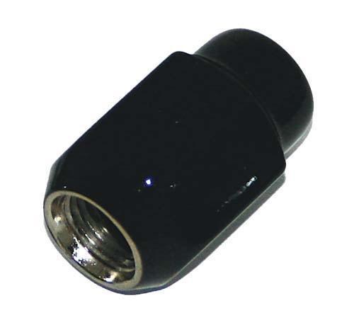 LUG NUT, BLACK 12X1.25