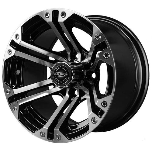 12x7 MJFX Machined/Black Nitro Wheel
