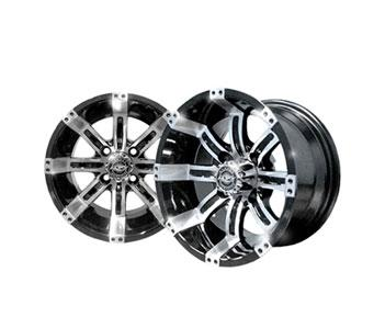 12x7 MJFX Machined / Black Octane Wheel