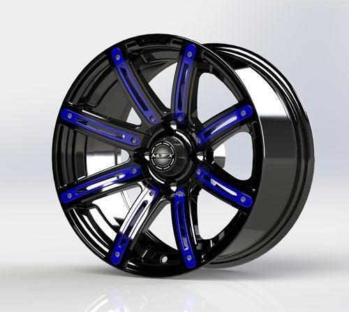 MJFX Blue Wheel Inserts for 12x7 Illusion Wheel