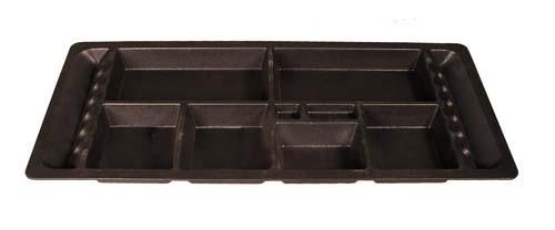 UNDERSEAT TRAY, CC DS; SMALL COMPARTMENTS