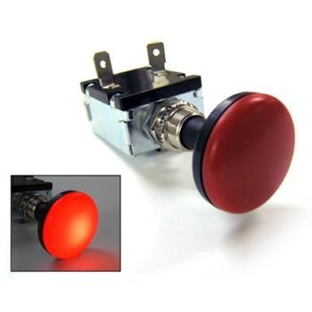 30 AMP PUSH-PULL SWITCH ILLUMINATES RED 12V
