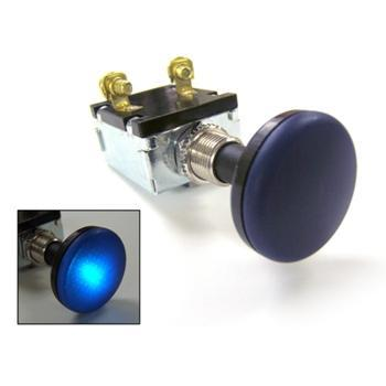 30 AMP PUSH-PULL SWITCH ILLUMINATES BLUE 12V