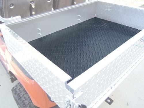 Diamond Plate Black Rubber Cargo Box Mat