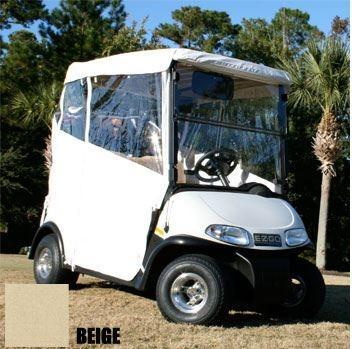 Club Car DS 2-Passenger Red Dot 3-Sided Beige Enclosure (Years 1982-1999)