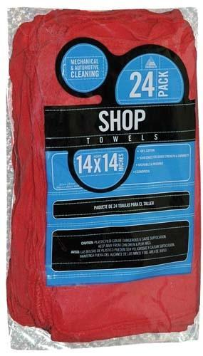 SHOP TOWELS, RED (25 PKG)