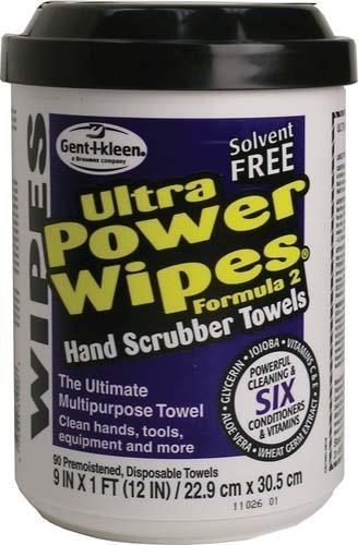POWER WIPES, W/SCRUBBER (90 PKG)