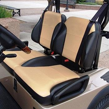 Club Car Precedent Black / Tan Suite Seats (Fits 2012-Up)