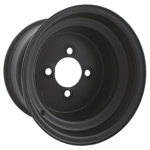 8x3.75 Black Steel Wheel, Centered
