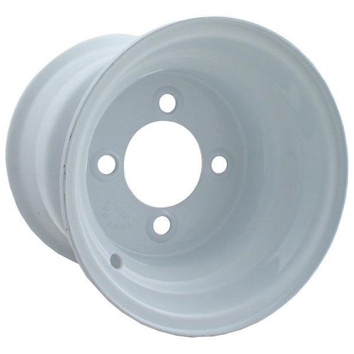 8x3.75 White Steel Wheel, Centered