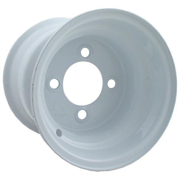 10x6 White Steel Wheel, Centered