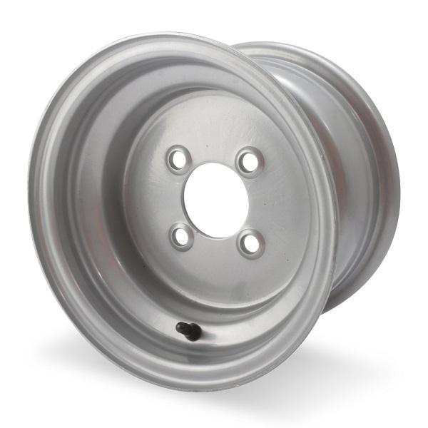 10x6 Silver Steel Wheel, Centered