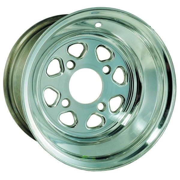 10X7 Econo Polished Wheel W/Center Cap (3:4 Offset)