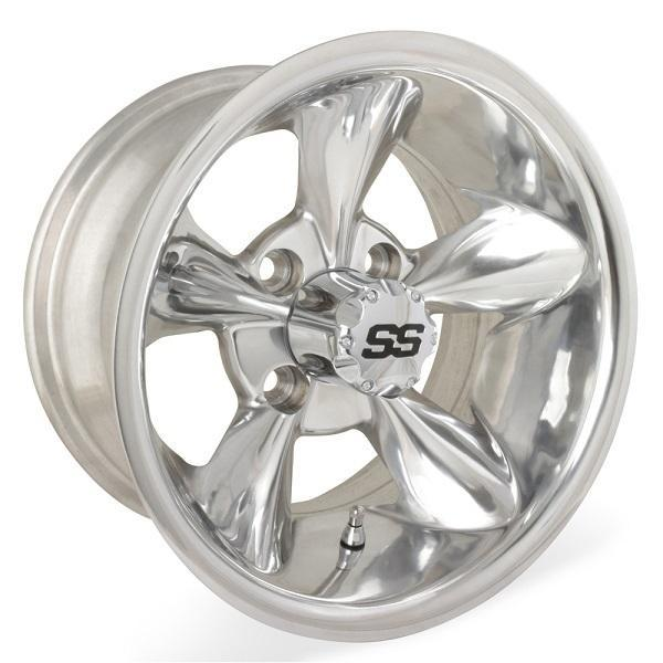 10X7 Godfather Polished Wheel W/SS Cap (3:4 Offset)