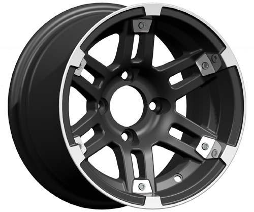 12x7 Barracuda Wheel Machined/Matte Black (3:4 Offset)
