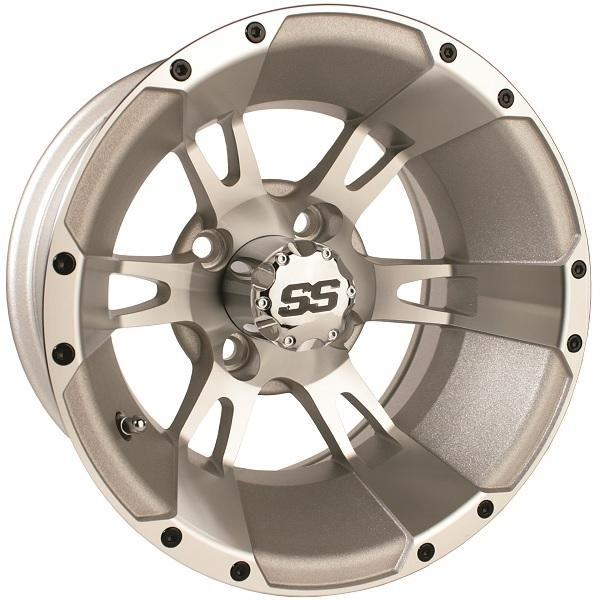 12X6 Machined Silver Yellow Jacket Wheel W/SS Cap