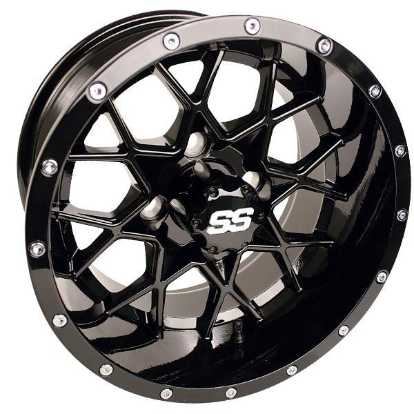 14x7 Vortex Gloss Black Wheel
