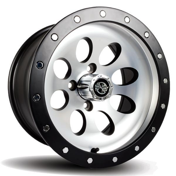 12X7 Rally Machined/Matte Black Beadlock Wheel (3:4 Offset)