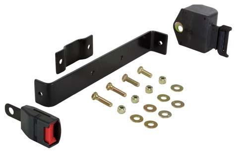 Seat Belt Kit, Retractable, Medalist/TXT