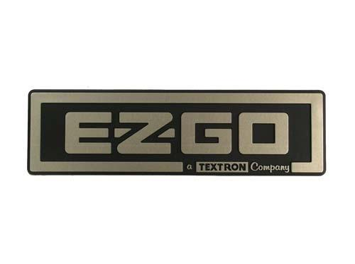 Nameplate (EZGO/Textron) Gold EZ 08-up TXT
