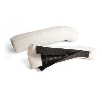 ARM REST CUSHION SET, FRONT, WHITE