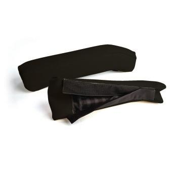 ARM REST CUSHION SET, FRONT, BLACK