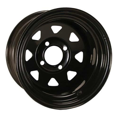 12X7 Spoke Glossy Black Steel Wheel (2:5 Offset)