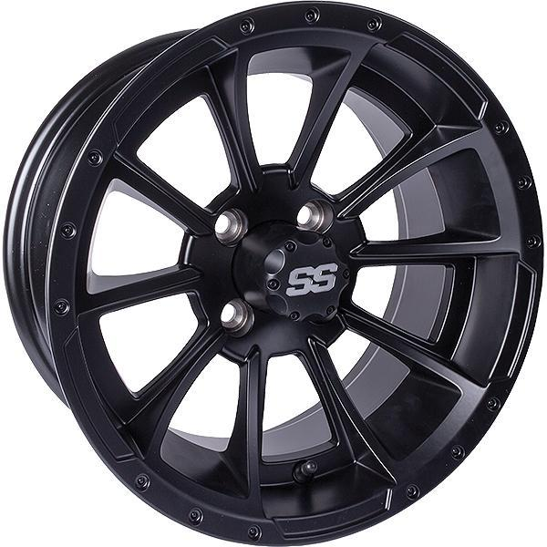12X7 Clutch Matte Black Wheel W/SS Cap