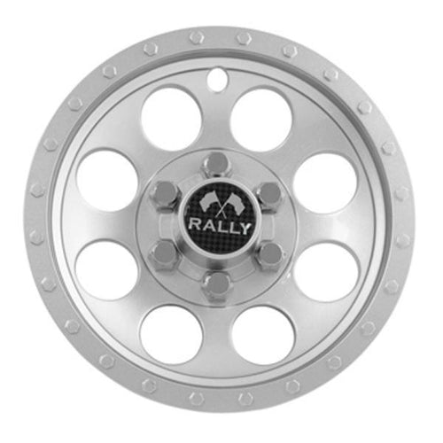 "10"" Silver Metallic Rally Wheel Cover"