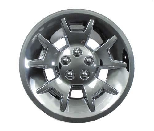"WHEEL COVER, 10"" DEMON SILVER MET"
