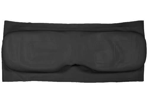SEAT BACK COVER BLK MED/TXT