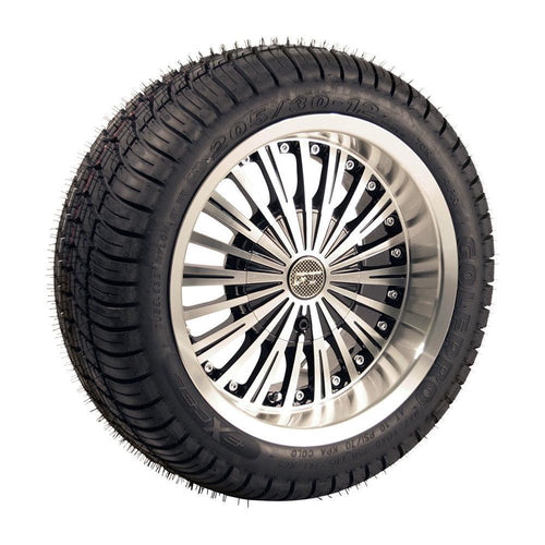 Set of (4) 12 inch Swagger Wheels on Lo-Pro Street Tires (No Lift Required)