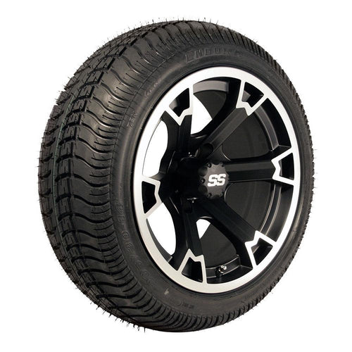 Set of (4) 14 inch Raven Wheels on Lo-Pro Street Tires (No Lift Required)