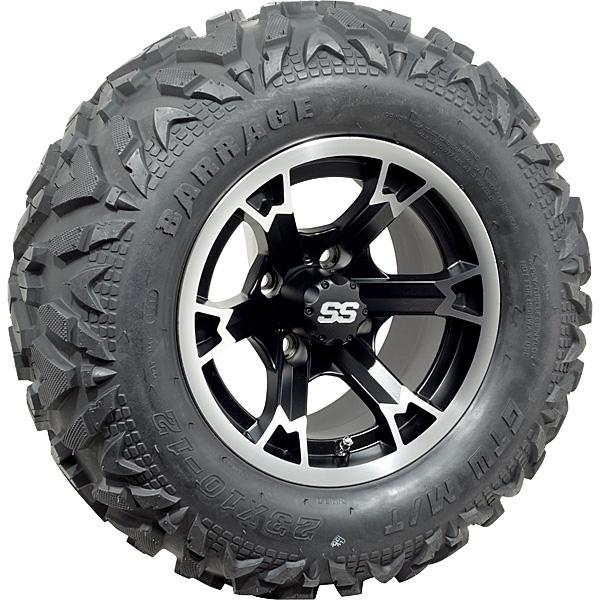 Set of (4) 14 inch Raven Wheels on GTW Barrage Mud Tires (Lift Required)