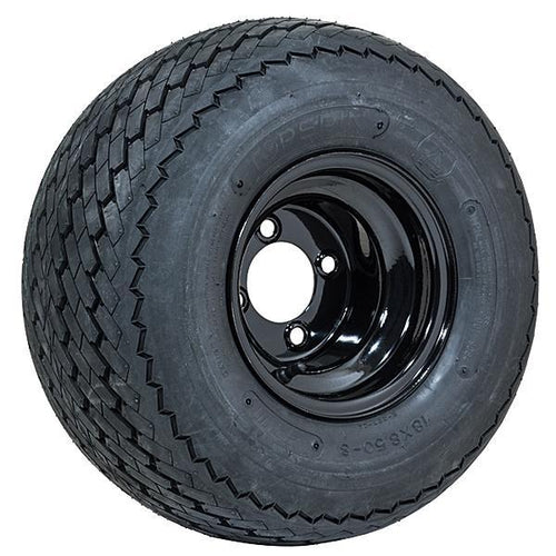 "8"" GTW Topspin Tire & Black Steel Wheel Assembly"