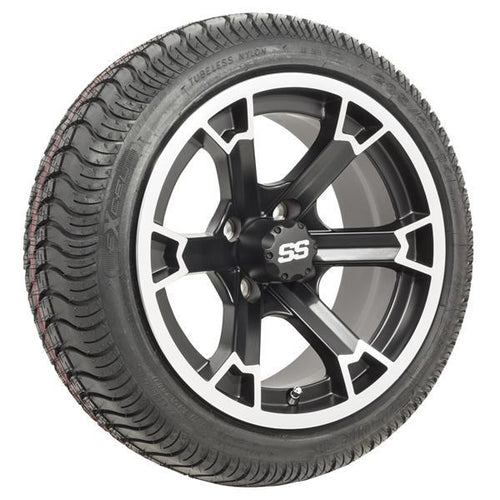 "Set of (4) 14"" Raven Wheels on Mounted on Excel Lo-Pro Street Tires"