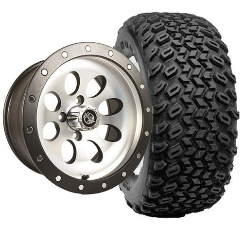 "Set of (4) 14"" Rally Beadlock Machined & Black Wheels on A/T Tires"